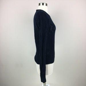 LOFT Sweaters - LOFT Dark Blue Pullover Sweater Size Small